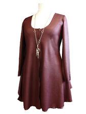 C107 Caroline Ann Jersey Jacket,Plum Shiny Textured Fabric  Made to order in UK