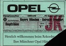 Ticket BL 95/96 FC Bayern München - Eintracht Frankfurt