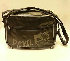 Dark Dudes/ devil inside messenger/shoulder bag/ black/ M - 409