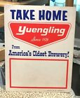 VINTAGE YUENGLING BEER CARDBOARD ADV SIGN POTTSVILLE PA YUENGLING'S BREWING CO