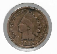 Rare Old Antique US 1895 Indian Head Penny Cent Collectible Collection Coin W28