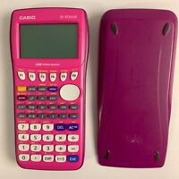 Casio FX-9750GII Graphing Calculator Pink Tested Working