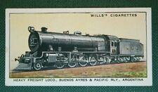Buenos Aires & Pacific Railway    Steam Locomotive     Vintage Card