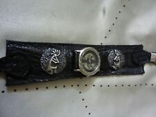 Native American Sterling Silver Conchos+Buckle set+Kokopelli Watch+Lizard skin