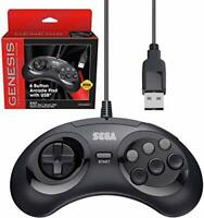 Retro-Bit Official Sega Genesis USB Controller 6-Button Arcade Pad for Sega
