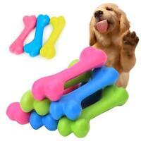 Pet Dog Puppy Cat TPR Plastic Teeth Chew Bone Play Training Fetch Fun Toys