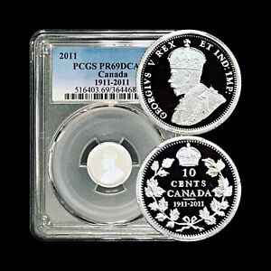2011 Canada Silver 10 Cents - PCGS PR 69 DCAM (Only 4 Graded Higher) - RARE