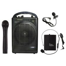 NEW Pyle PWMA1216BM Portable Bluetooth PA Speaker Amp & Mic System Accessory Kit