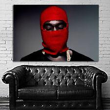 Poster Mural Kanye West Rap Hip Hop 24x35 inch (61x90 cm) Canvas