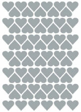 Silver Heart Scrapbooking Stickers