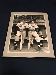 Mickey Mantle and Joe Dimaggio Signed Photo 16x20 - PSA/DNA Authenticated Large