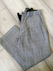"Ladies Golf Trousers - Grey Check - 35"" Waist - 27"" Inside Leg - Size 14-Short"