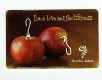 Jamba Juice Gift Card Peace Love & Healthiness / Apple Ornaments - No Value