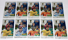 PANINI ADRENALYN XL trading cards wm wc brasil 2014 - 10 PACKETS POCHETTES Booster