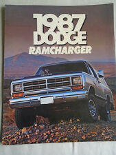 Dodge Ramcharger range brochure 1987 USA market