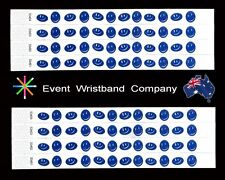 100 x Happy Face Tyvek, party, security, wristbands