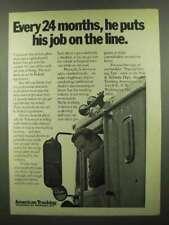 1974 ATA American Trucking Association Ad - Job on Line