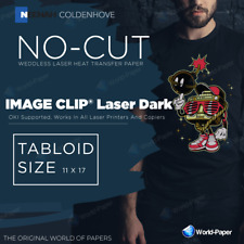 Heat Transfer Paper Image Clip Laser Dark 11x17 10 Sheets