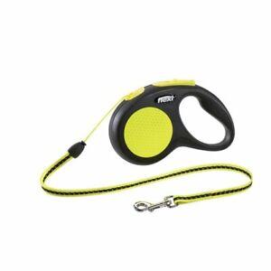Flexi New Neon Reflective Cord Dog Lead XS 3m