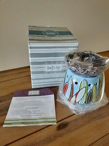 "Scentsy Full Size Warmer Retired NIB ""Surf's Up"" Beach Surf Boards Hard to Find"