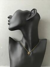 Signed Michal Negrin Necklace With Small Flower Shaped Pendant Used