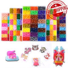 6000pcs 5mm EVA HAMA/PERLER Beads Kids Fun DIY Craft 24 Colours Set Gift Toys