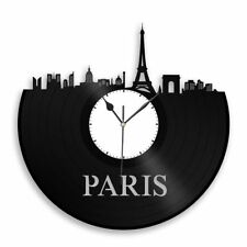 Paris Vinyl Wall Art Clock City Skyline Vintage Home Room Office Decor Exclusive