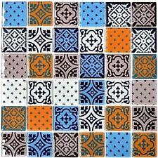 Mosaico piastrella vetro multicolore disegno muro cucina: 68-4OP12_b | 1 foglio