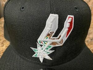 San Antonio Spurs Mexico Flag Logo Baseball Hat Snapback Cap Duncan Parker
