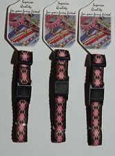 Pink & Brown Argyle Designer Break Away Safety Cat Collar - 15-25cm