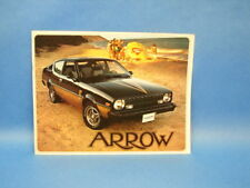 1978 Plymouth Arrow Dealers Sale Brochure Advertising Car Booklet GT GS