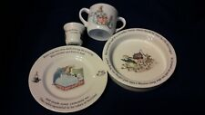 Lot of 4 Beatrix Potter Dishes F. Warne & Co Peter Rabbit Wedgwood