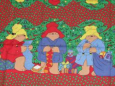 "Paddington Bear Christmas Fabric Draft Stopper Window/Door Cut Sew 11"" Panel X 3"
