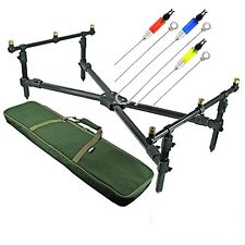 NGT ROD CROSS POD CARP FISHING WITH DELUXE FISHING POD WITH BAG & INDICATORS