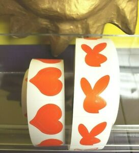 ~~~100~~ BUNNY & 100~ 3 WAY HEART TANNING BODY STICKERS  RED Bunny Faces Right