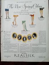 1928 REALSILK Hosiery Stockings Legs Styles Celebrities Vintage Fashion Ad