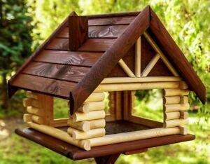 Exclusive Large Wooden Bird Table  House Bird Feeder & Feeding House
