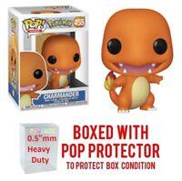 "Funko Pop Pokemon: CHARMANDER #455 Vinyl w/Protector Case ""MINT"" -IN STOCK-"