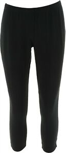 Women with Control Elastic Waist Pull-On Knit Leggings Black PXXS NEW A235952