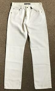 STONE ISLAND – Mens Off-White Jeans – Size 34 x 32