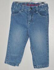 JACK AND JILL Size 6-12 Months Front Zipper  Adjustable Waist Blue Denim Jeans