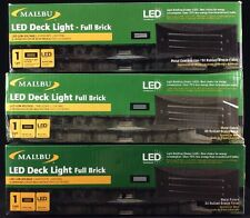 (3) Malibu LED Full Brick Deck Lights 8406-2408-01 Low Voltage Landscape Lights