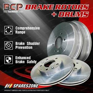 BCP Front + Rear Vented Brake Rotors Drums for Daihatsu Feroza F300 F310 4WD