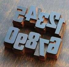 0-9 Zahlen Holzzahlen 36 mm Lettern Holzlettern Vintage letterpress numbers