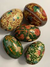 Wooden Coloured Eggs