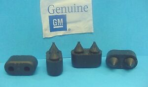 Qty 4 Genuine GM 1967-1990 Chevy Rubber Front Door Bumpers Stops Jamb  NOS