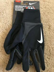 Nike Dri-Fit Tailwind Run Men's Running Gloves NEW Black Assorted Sizes