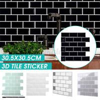 3D Brick Tile Stickers Bathroom Kitchen Wall Self-Adhesive Sticker Decal Decor