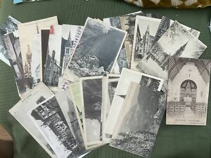 Vintage Postcards - Small Bundle Of 40 French B/W - Mainly Churchs - L1