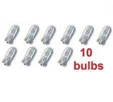 10x T10 W5W 501 5W Halogen Bulbs Car Dashboard Interior Wedge Side Lights Clear